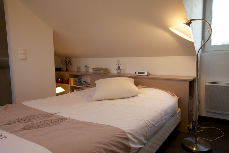 Agencement chambre sous pente | Placards Mage Strasbourg