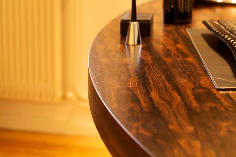 Bureau en bois exotique placards mage strasbourg